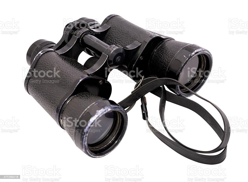 binoculars horizontal stock photo
