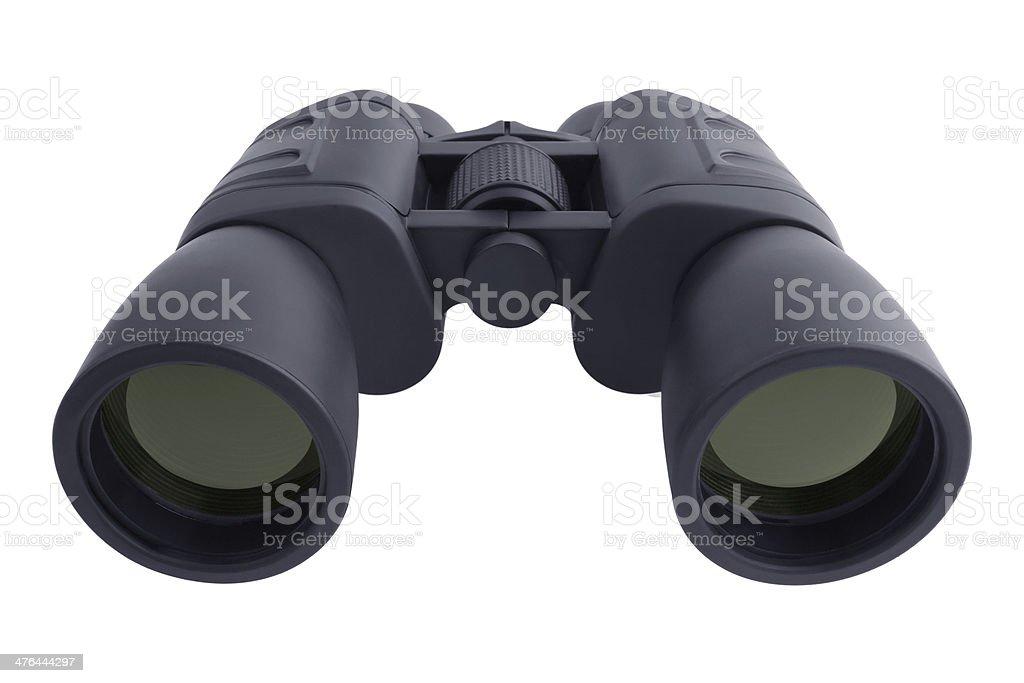 Binoculars in a black rubberized case royalty-free stock photo