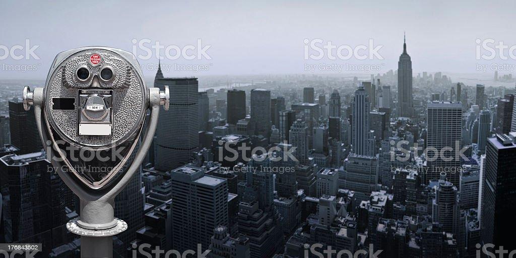 Binoculars in Manhattan stock photo