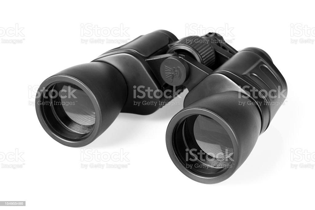 Binoculars, isolated on white background stock photo