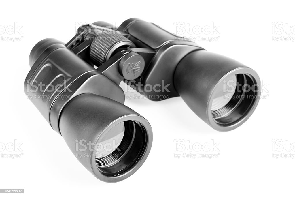 Binoculars, isolated on white background royalty-free stock photo