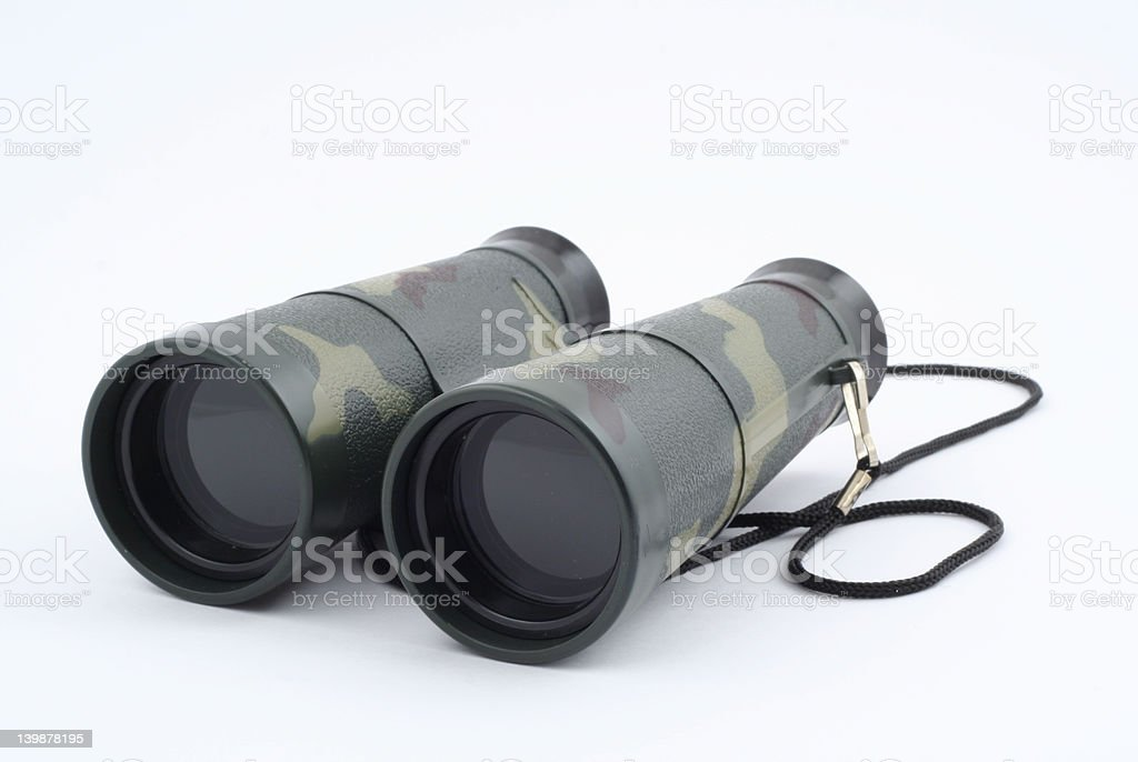 binoculars on white royalty-free stock photo