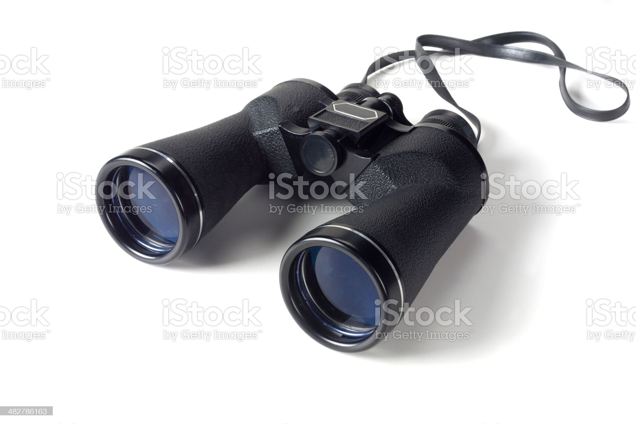 binoculars on white royalty-free stock photo