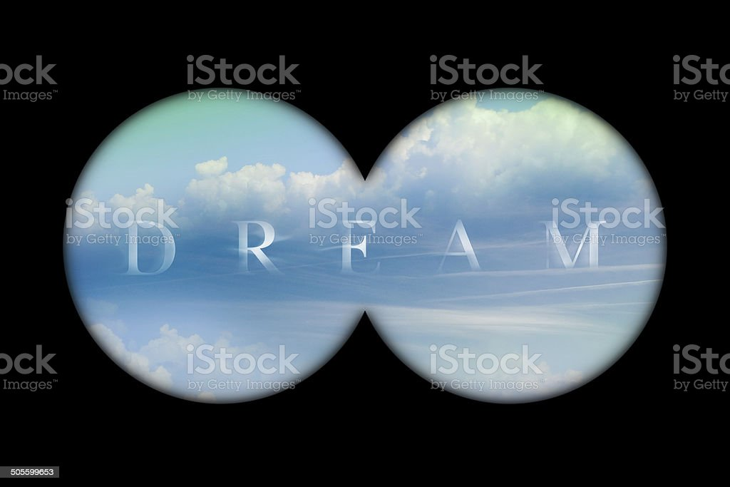 Binoculars view stock photo