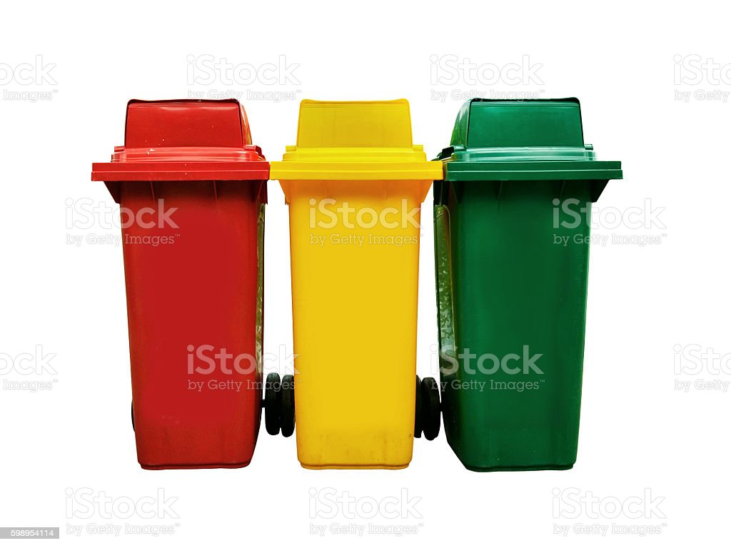 Bins dicut isolated on white background stock photo