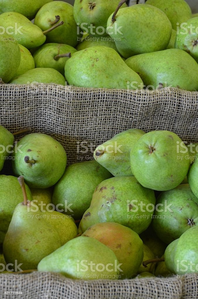Bins of Pears royalty-free stock photo