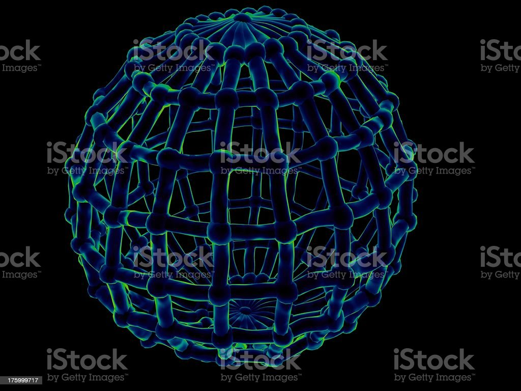 Bio element (cell scanned) royalty-free stock photo