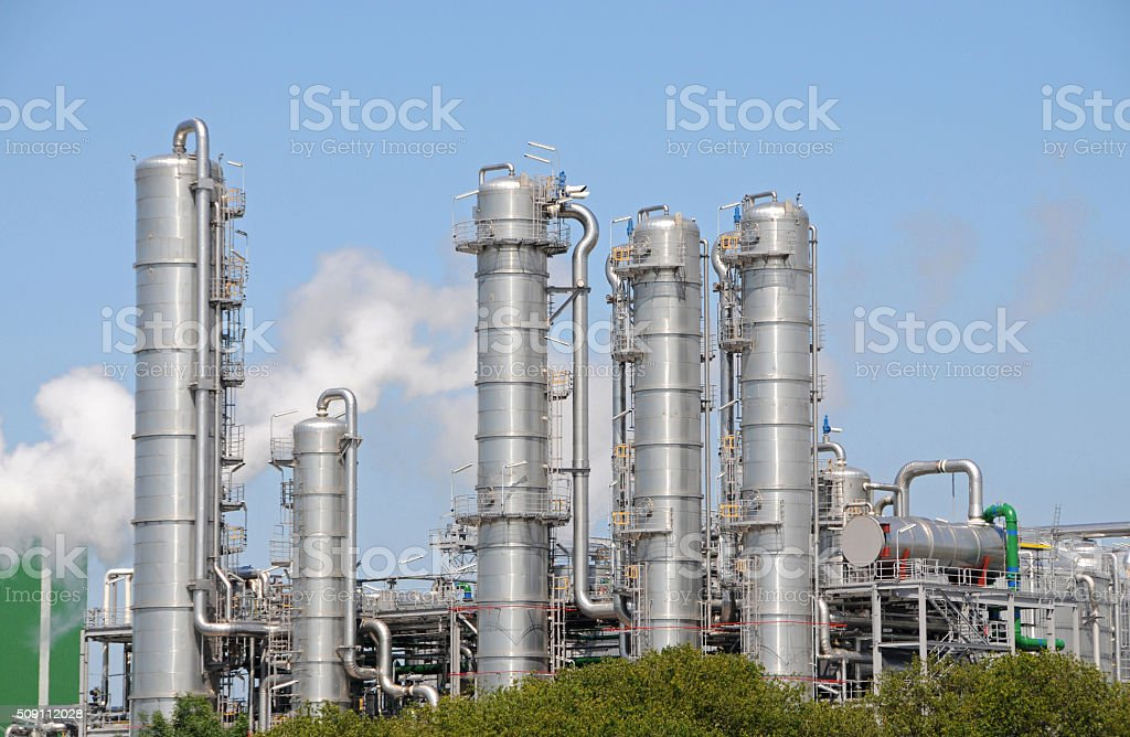 Bio ethanol plant 2 stock photo