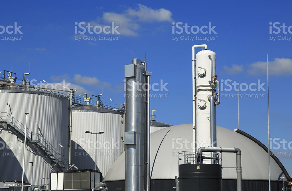 Bio fuel plant stock photo