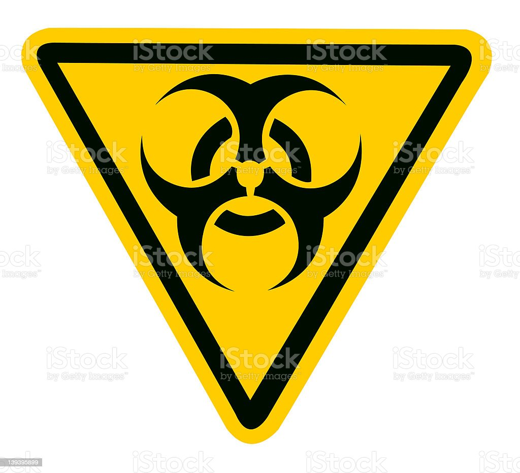 Bio Hazard Symbol stock photo