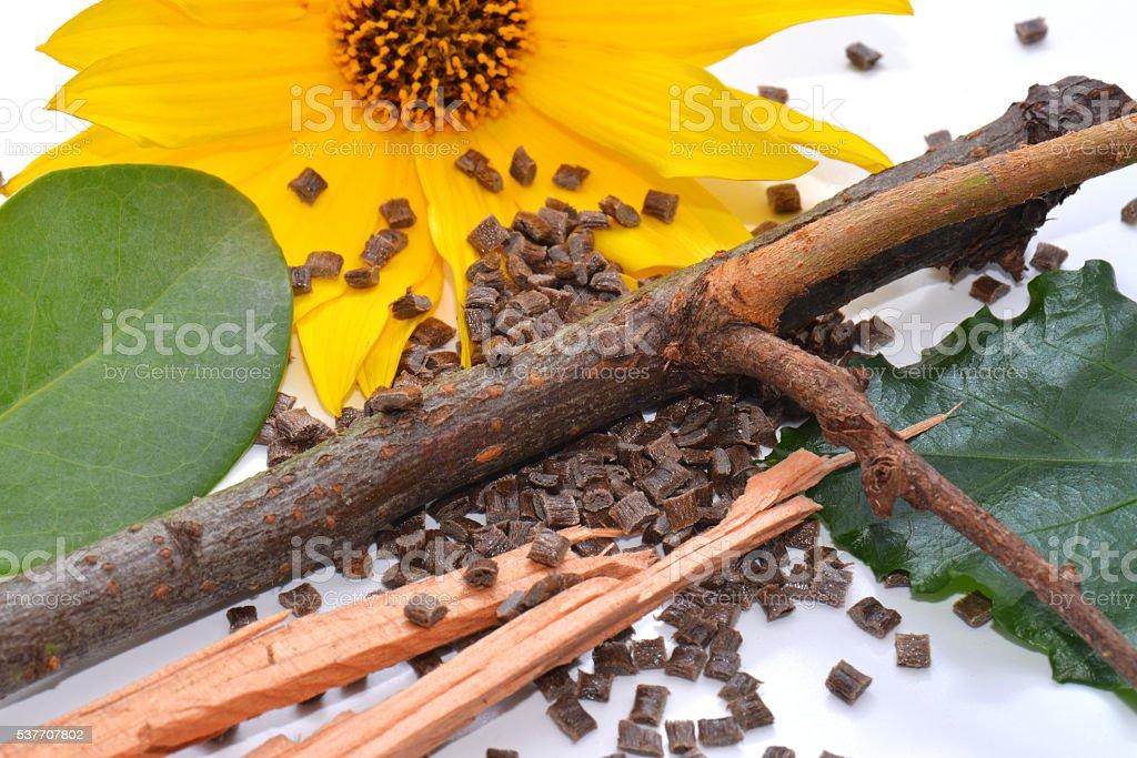 bio plastics with naturel ressource stock photo
