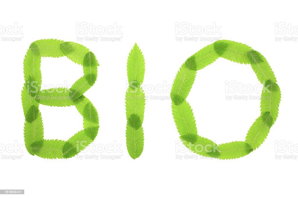 Bio text royalty-free stock photo