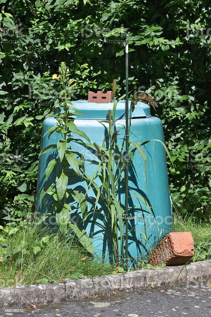bio waste container stock photo