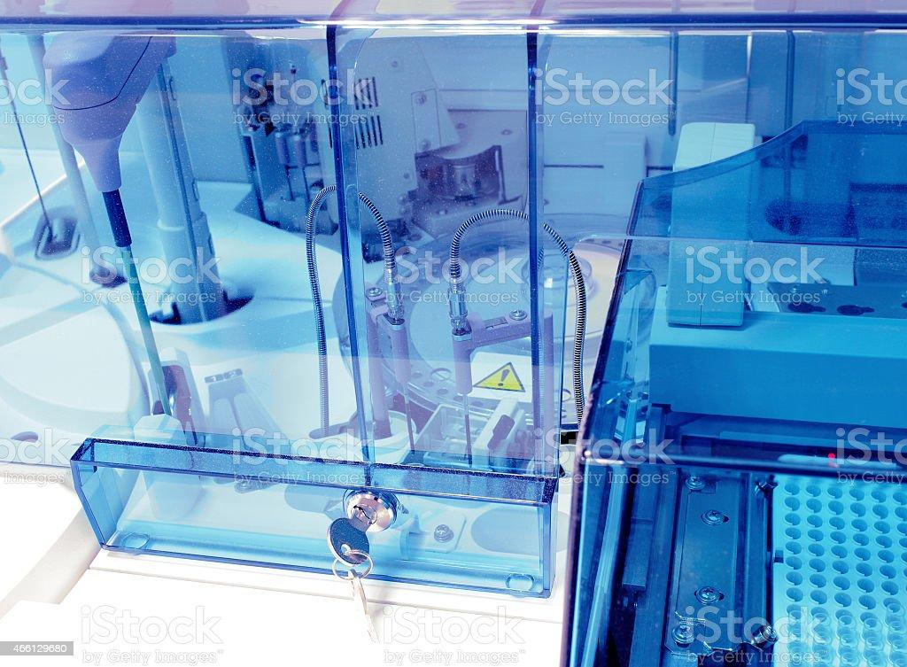 Biochemical analyzer at modern coo. Laboratory equipment. stock photo