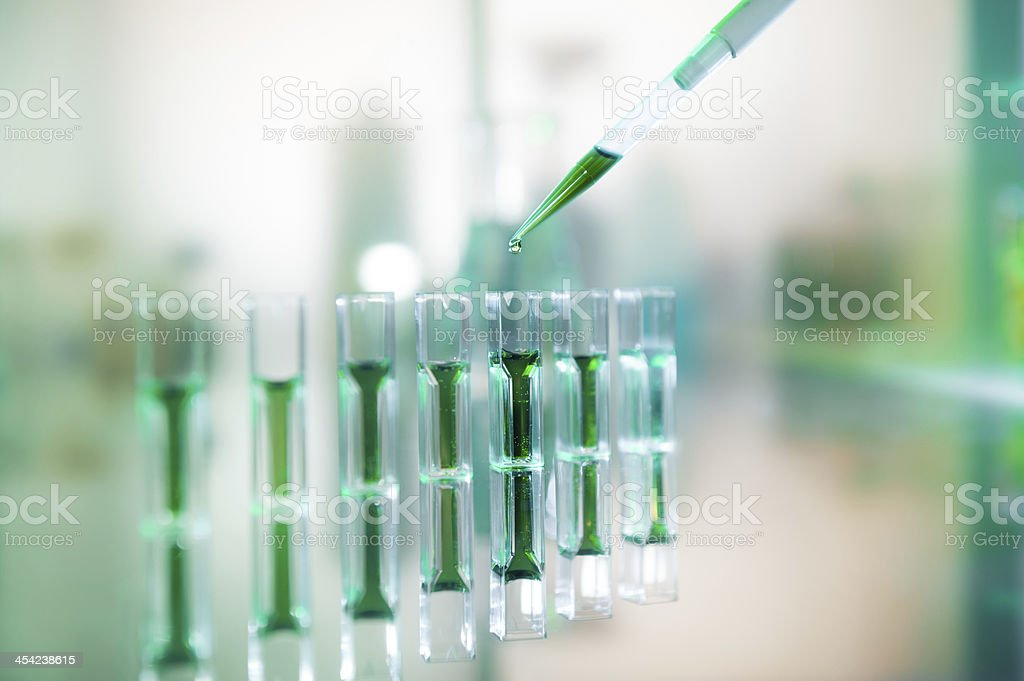 Biochemical samples stock photo