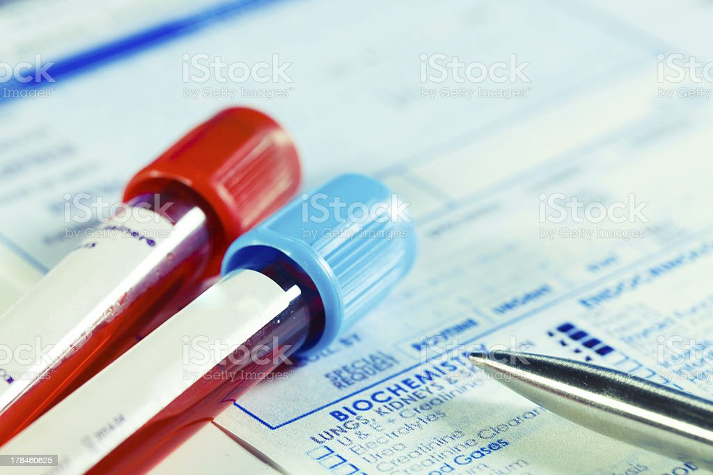 Biochemistry blood tests stock photo