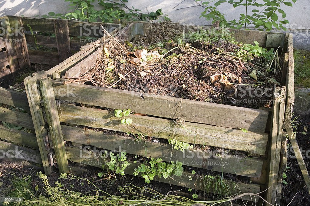 bio-compost - management by microbes and recycling stock photo