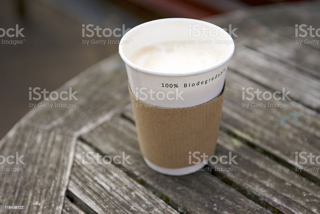 Biodegradable Disposable Cup royalty-free stock photo
