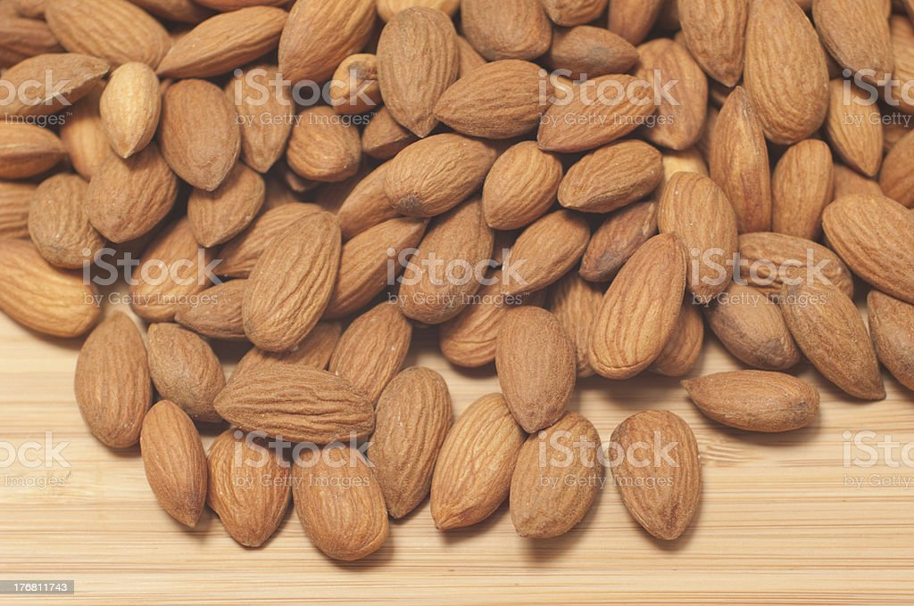 Biodynamic almonds royalty-free stock photo