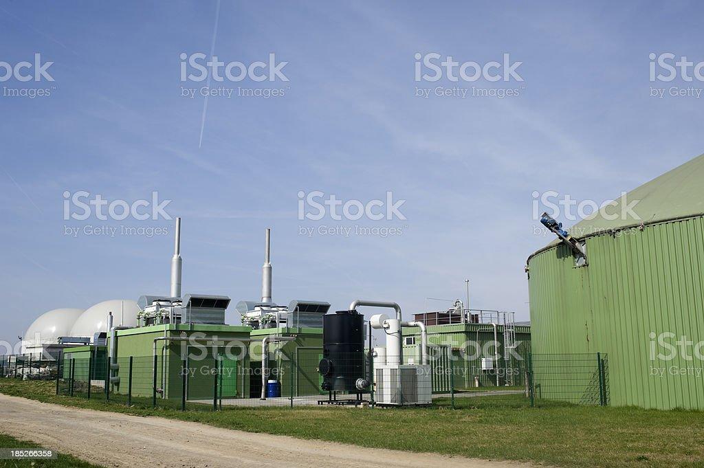 Bioenergie, Biomass energy plant, Germany. stock photo