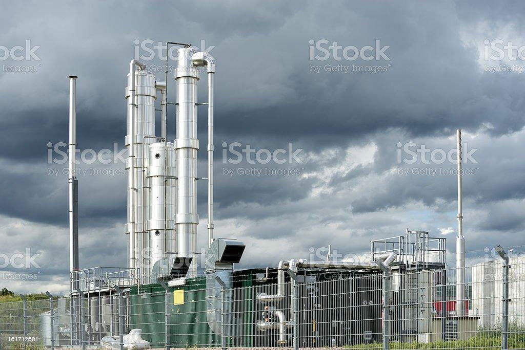 Bioenergie, Biogas, Blockheizkraftwerk, Energiewende, Germany stock photo