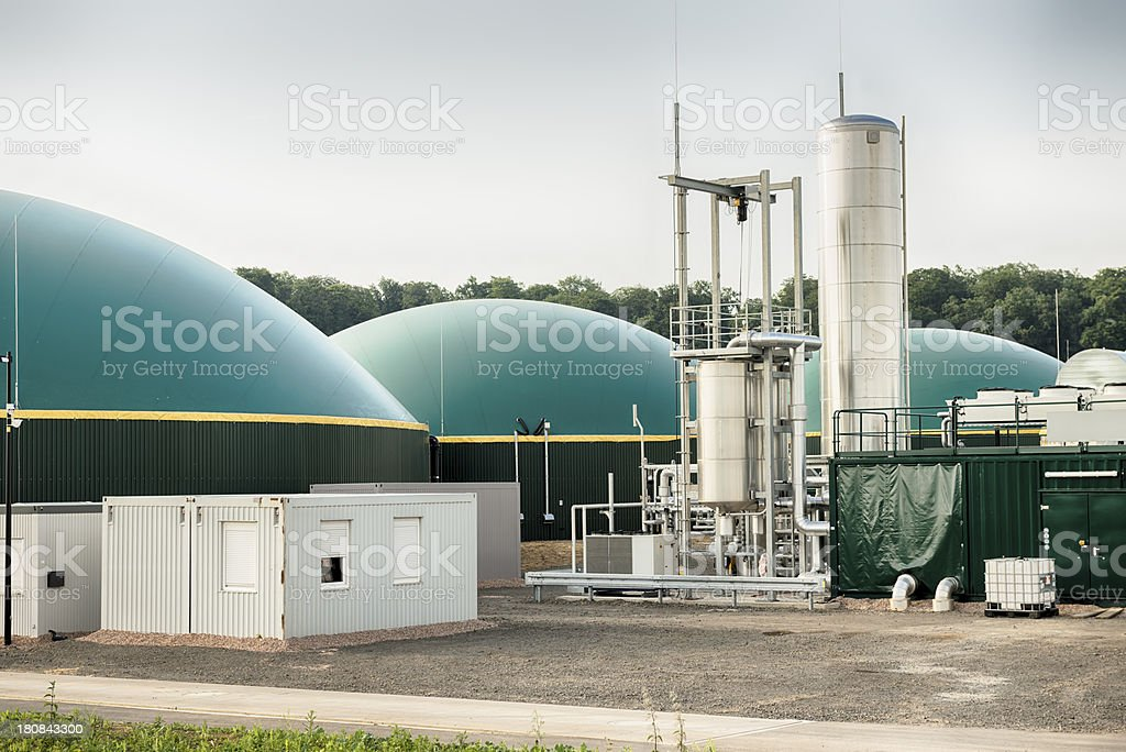 Biogas, Biomass, Bio Fuel Plant, Energiewende, Fermenter stock photo