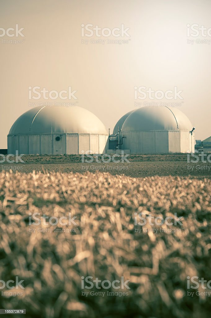 Biogas energy plant , Germany. stock photo