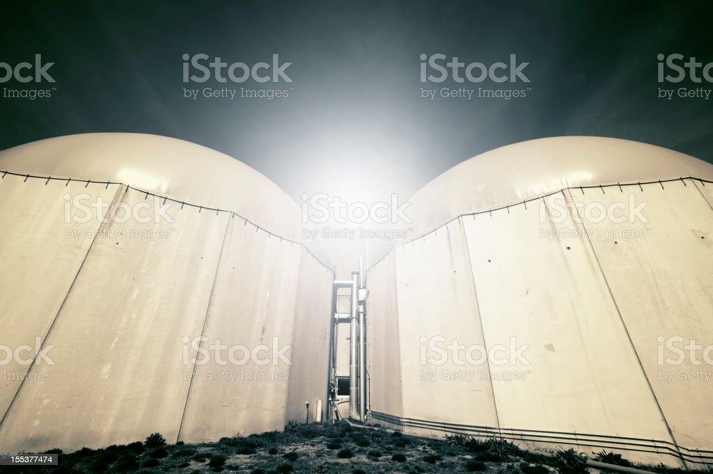 Biogas energy plant in Germany. stock photo