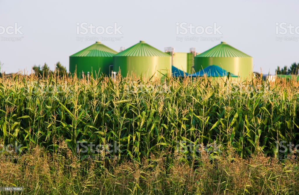 Biogas industry royalty-free stock photo