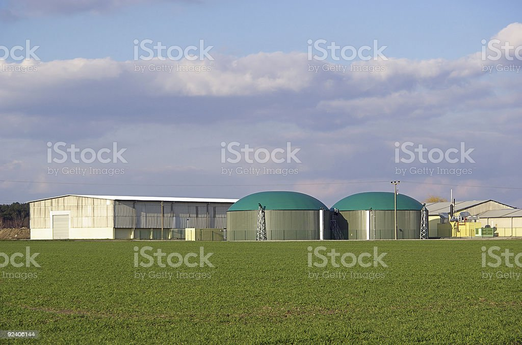 biogas plant royalty-free stock photo