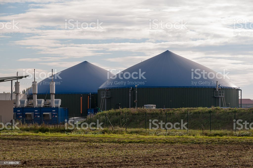 Biogas plant in southern Germany stock photo