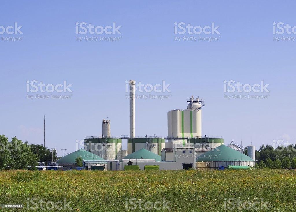 biogas plant stock photo