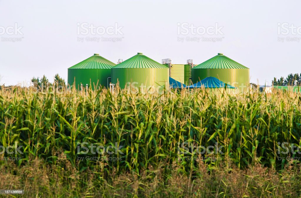 Biogas-industry royalty-free stock photo
