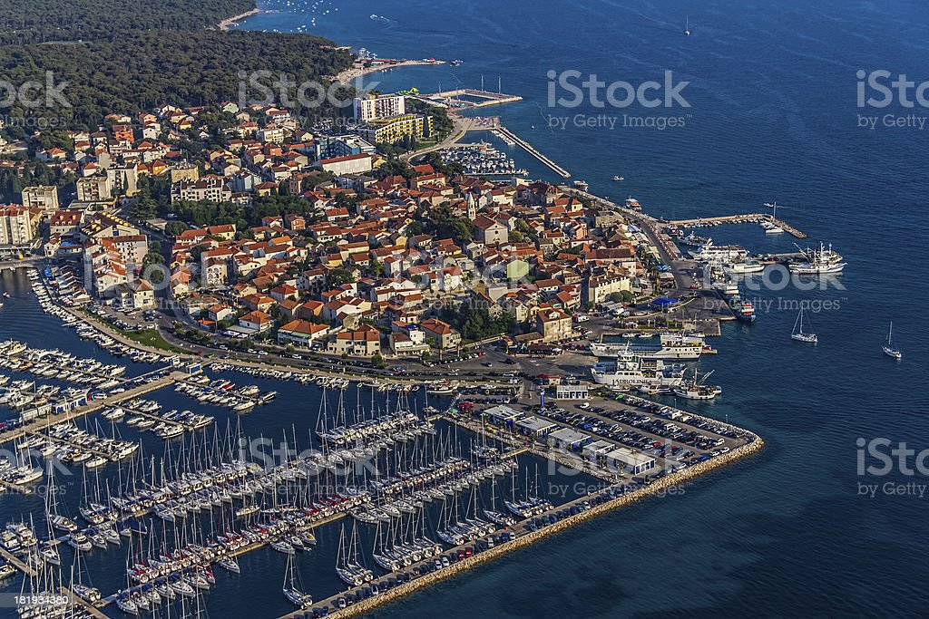 Biograd aerial royalty-free stock photo