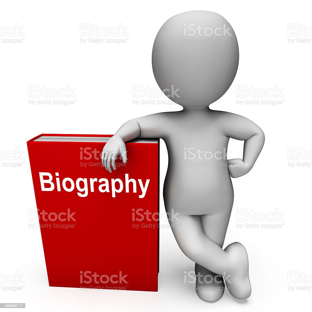 Biography Book And Character Show Books About A Life stock photo