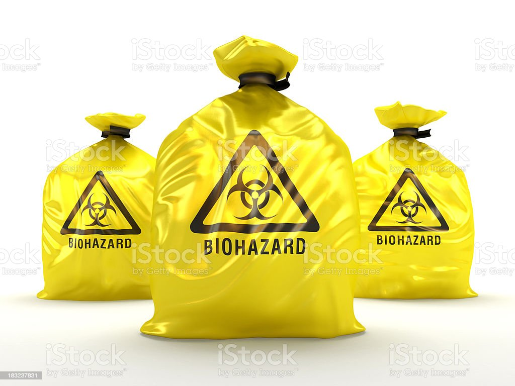 Biohazard bags royalty-free stock photo