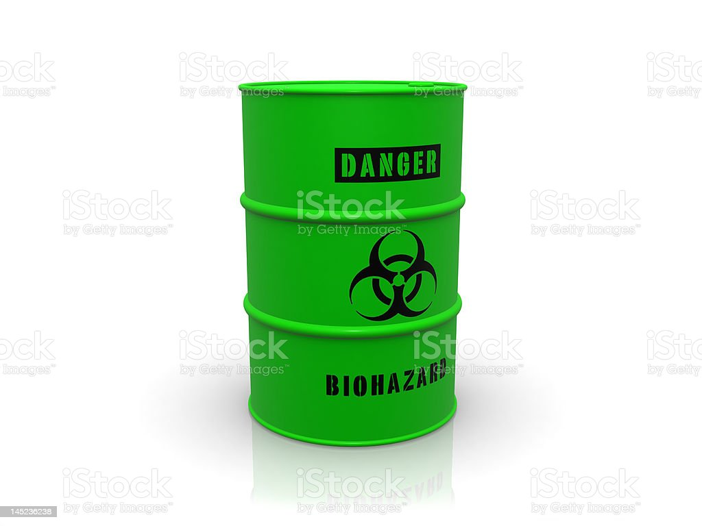 biohazard barrel royalty-free stock photo