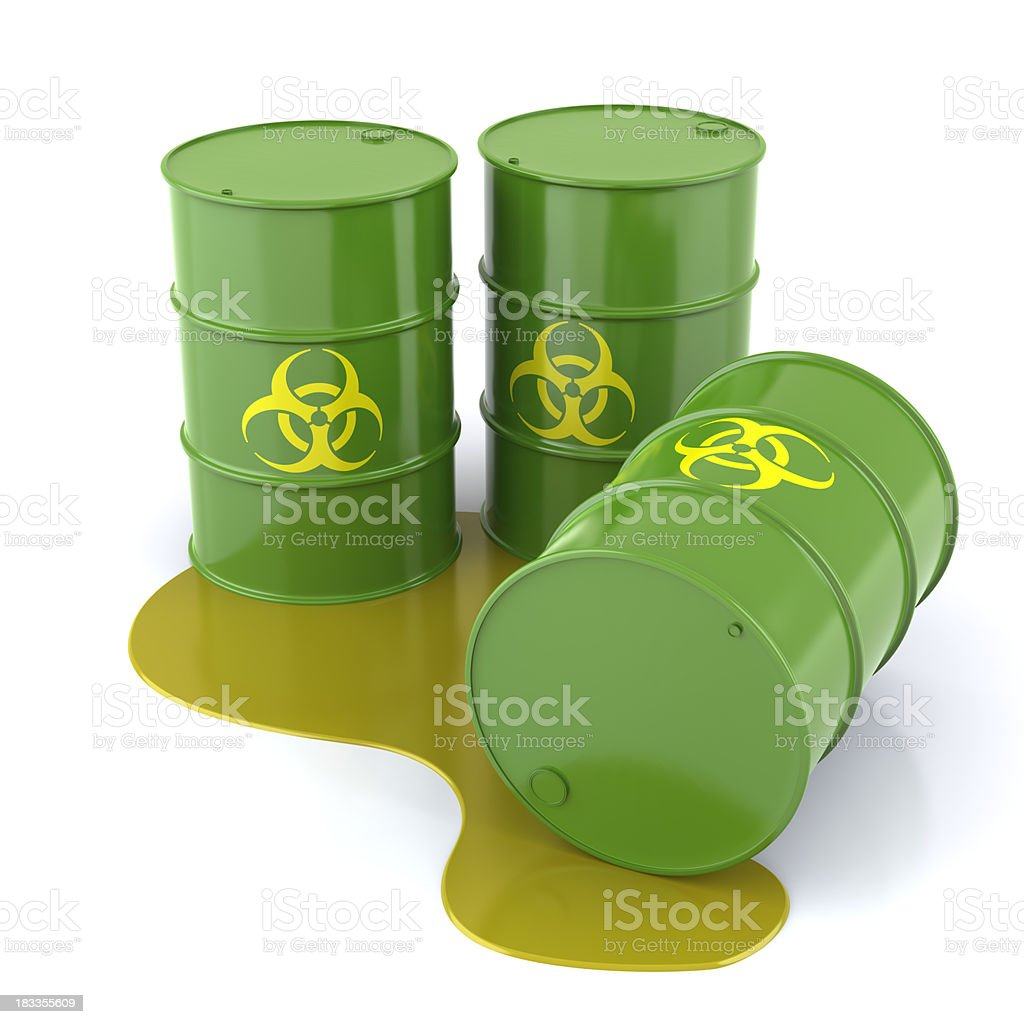 Biohazard Barrels stock photo