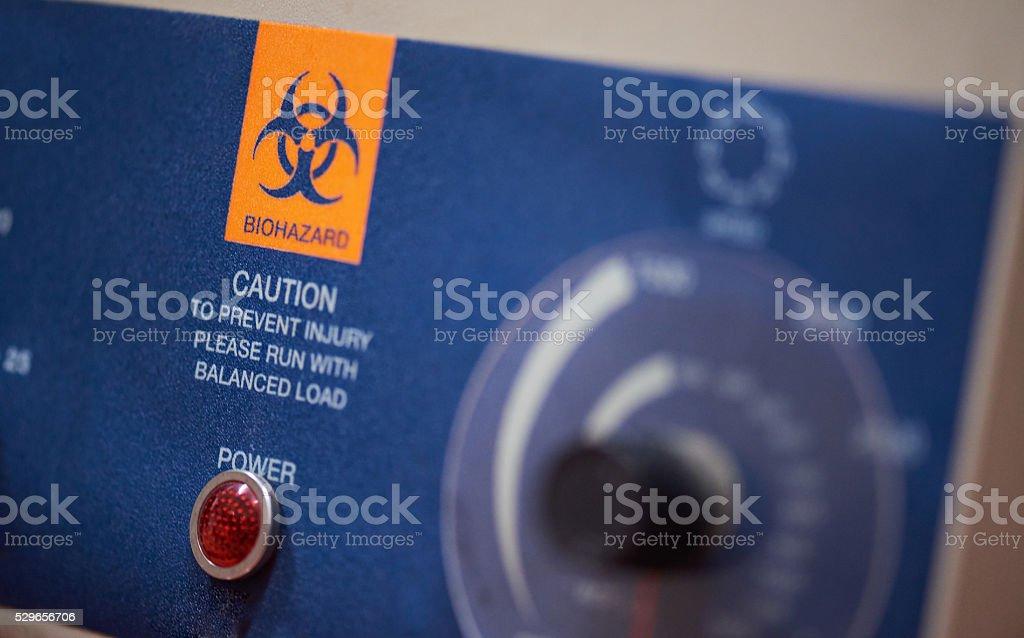 biohazard caution sign stock photo