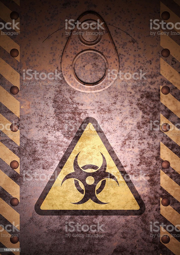 Biohazard cover royalty-free stock photo