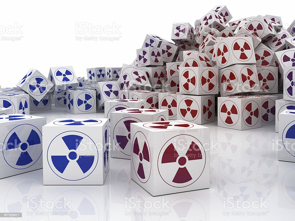 Biohazard Cubes (isolated on white) royalty-free stock photo