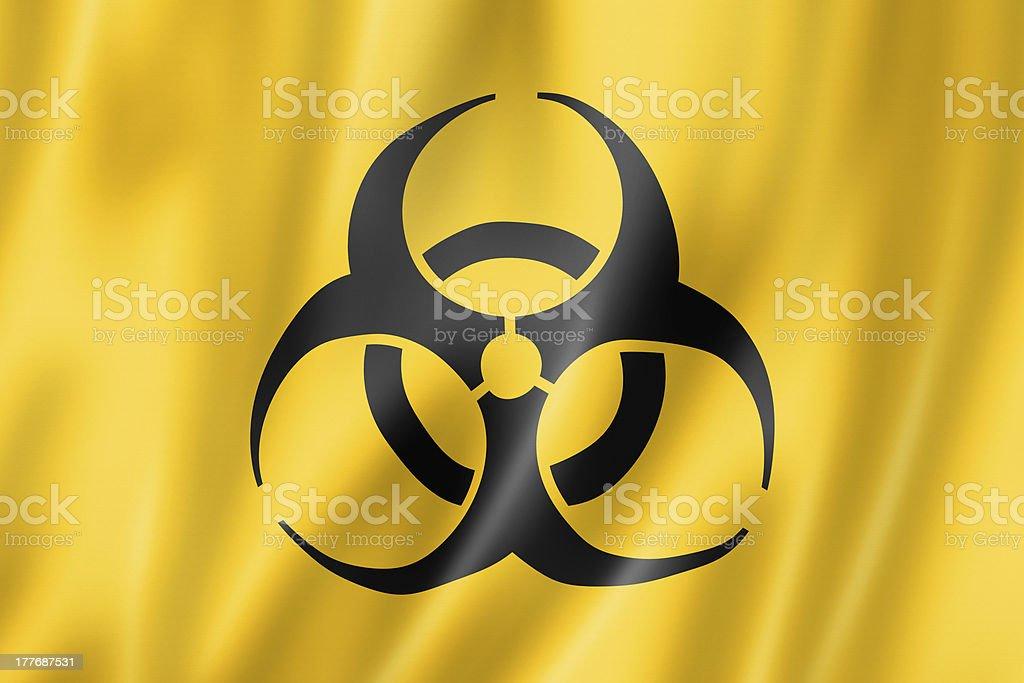 Biohazard flag royalty-free stock photo