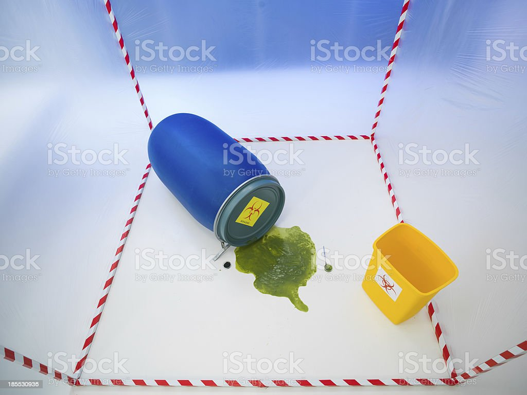 biohazard plactis containers royalty-free stock photo