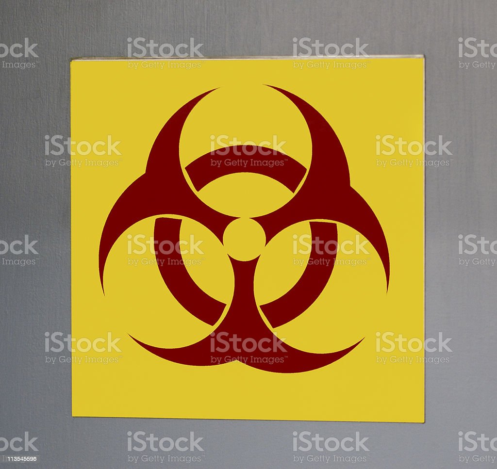 Biohazard sign royalty-free stock photo