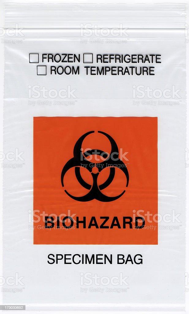 Biohazard Specimen Bag stock photo