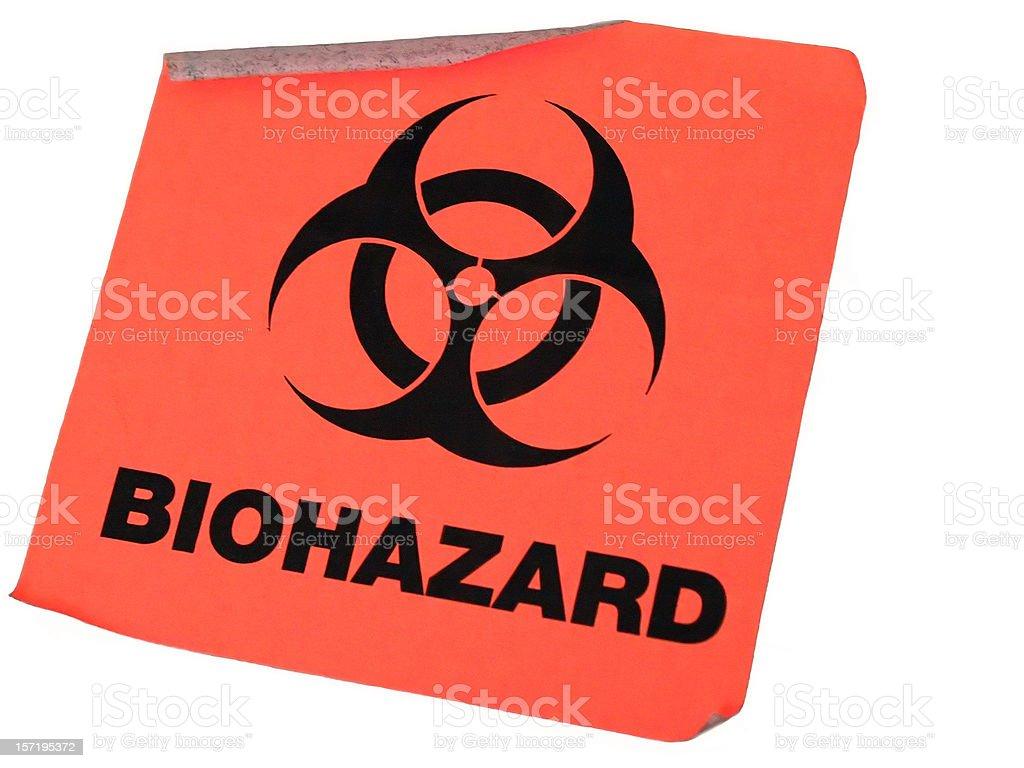 Biohazard Sticker stock photo