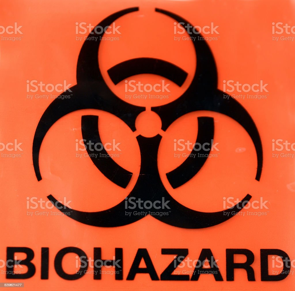 Biohazard Symbol Giving Warning stock photo