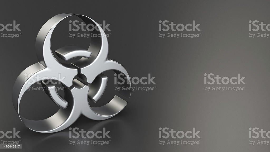 Biohazard symbol on black royalty-free stock photo