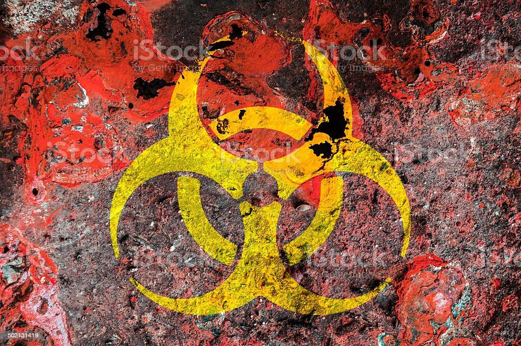 Biohazard Symbol stock photo