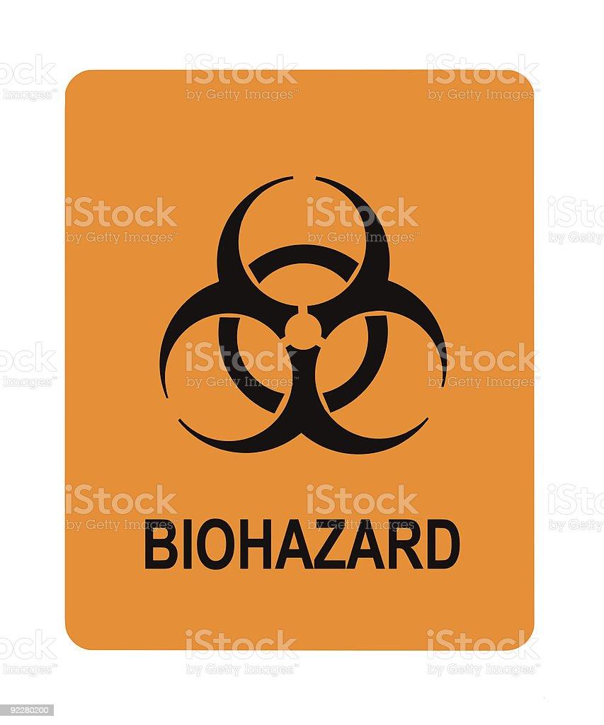 Biohazard Warning Label stock photo